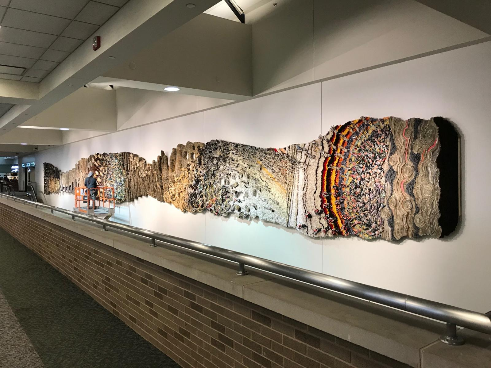 "Installation of ""Biography"" at Albany International Airport"